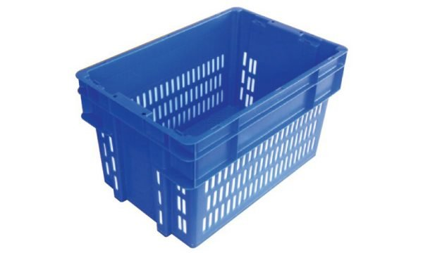 52 Litre 2000 Series Modular Crate & Lid - Vented 3