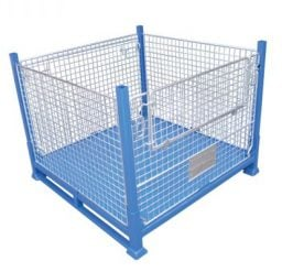 Folding Pallet Cage – Sheet Metal Base