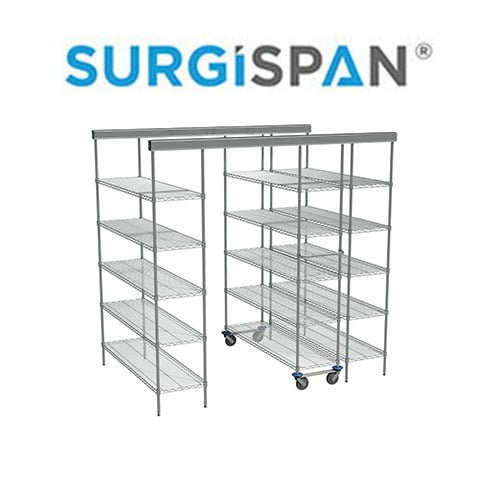 Inline SURGISPAN® Chrome Wire Shelving