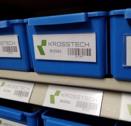 Bin Adhesive Label Holders