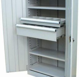 2 Drawer/ 4 Shelf Industrial Cupboard