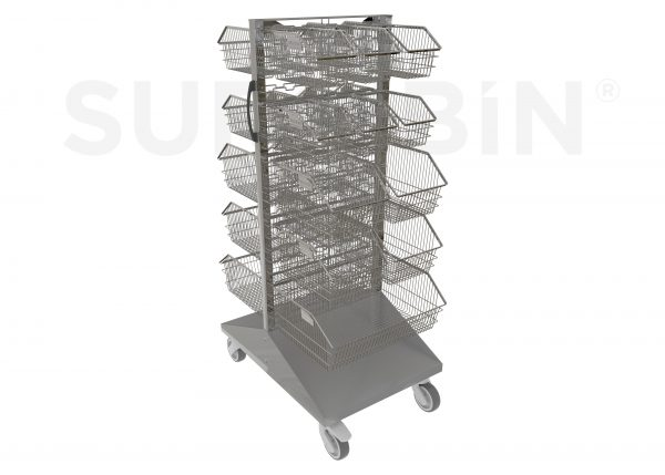SURGIBIN<sup>®</sup> PANEL TROLLEY WITH 22 BASKETS |