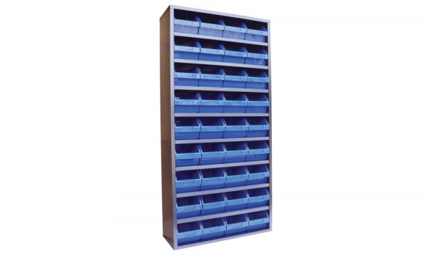 STORBAY Shelving Module with 36 Stack n Hang Bins | Stor-Bay Shelving Module with 36 Stack n Hang Bins