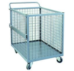 Full Mesh Trolley with Fold Down Gate