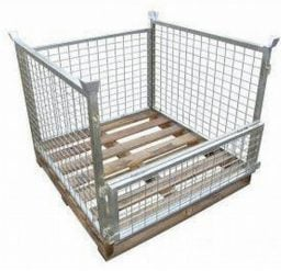 Full Height – Timber Base Pallet Cage