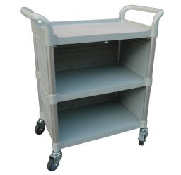 Modular Trolley (3 shelves/ enclosed sides)