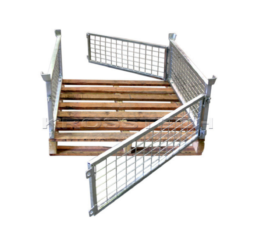 Half Height Pallet Cage – Timber Base