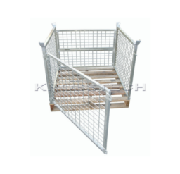 Full Height Pallet Cage – Timber Base