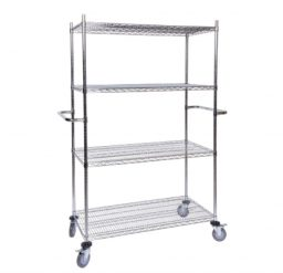 Chrome-Wire Shelving Mobile Bay