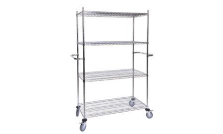 Surgispan   chrome storage shelves