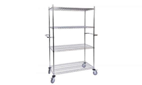 Chrome-Wire Shelving Mobile Bay 3