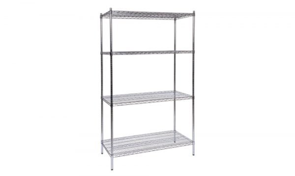 Chrome-Wire Shelving Static Bay | chrome-wire shelving static bay
