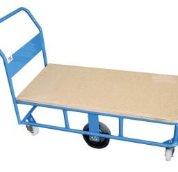 High Deck Platform Trolley with Plywood Top