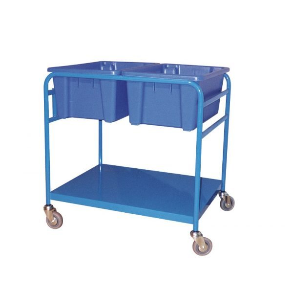 Order Picking Trolley - Double Tub 3