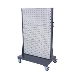 Double Sided Mobile Louvre Panel Trolley