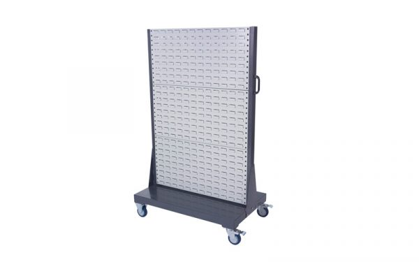 Double Sided Mobile Louvre Panel Rack 2