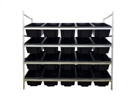 krosstech stackrack with 20 52l tufftotes