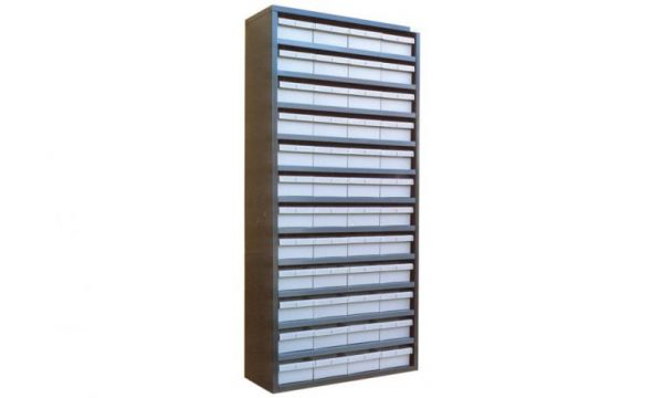 STORBAY Shelving Modules with 48 Small Parts Trays |