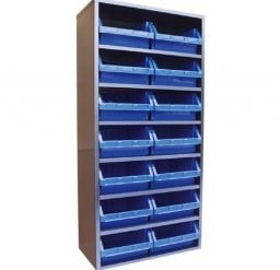 STORBAY Shelving Module with 14 Stack n Hang Bins