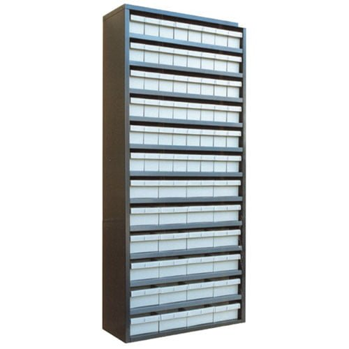 STORBAY Shelving Modules with 72 Small Parts Trays |