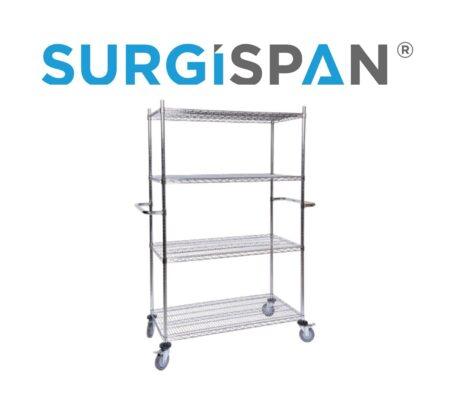 SURGISPAN® Chrome Wire Shelving