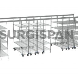 Inline SURGISPAN Chrome Wire Shelving