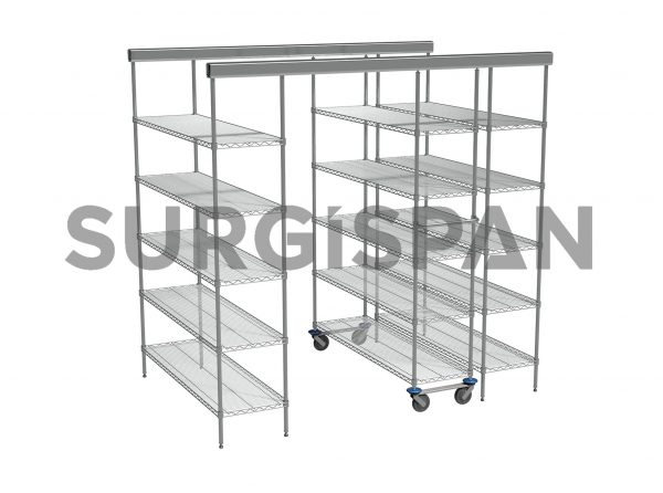 Inline SURGISPAN Chrome Wire Shelving 3