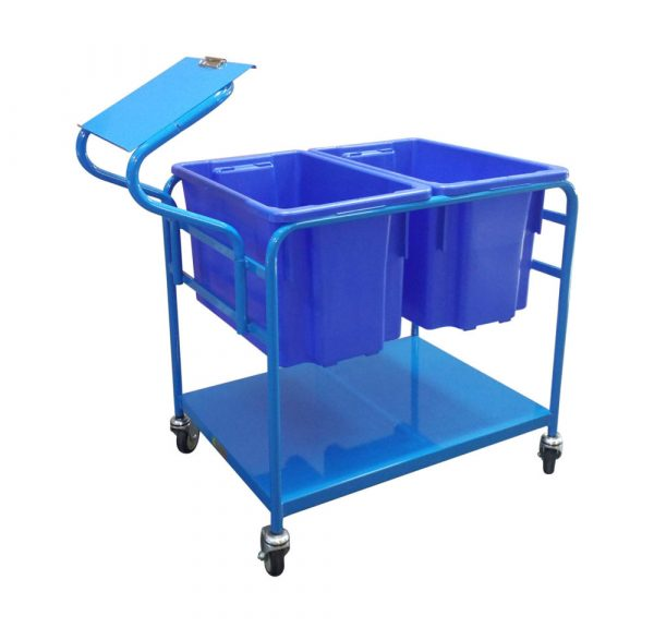 Order Picking Trolley - Double Tub | order picking trolley – double tub