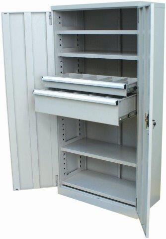 2 Drawer/ 4 Shelf Industrial Cupboard | 2 drawer/ 4 shelf industrial cupboard