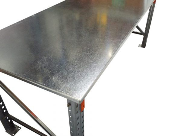 Heavy Duty Work Bench Galvanised Sheet Metal Top |