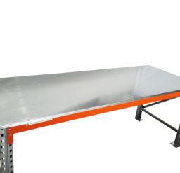 Heavy Duty Work Bench Galvanised Sheet Metal Top