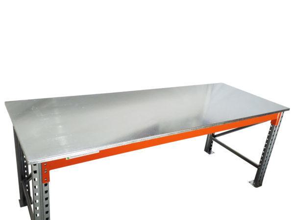 Heavy Duty Work Bench Galvanised Sheet Metal Top 1