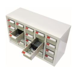 20 Bin Drawer Cabinet