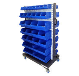 Louvre Panel Trolley Complete With 60 Bins